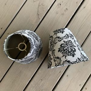 Set of 2 Black and Gray Lampshades